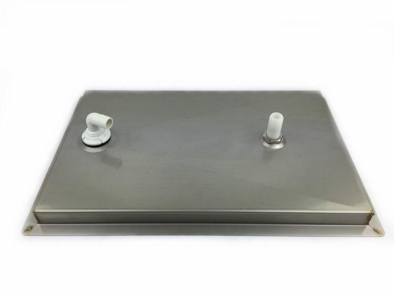 Tropfblech mit Gläserdusche 480×313 mm zum einlassen ~ Spülbecken In Arbeitsplatte Einlassen